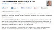CLICKZ ARTICLE: THE PROBLEM WITH MILLENNIALS; IT'S YOU!